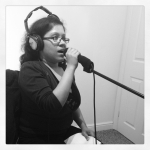 Blossom doing a recording - Don't Speak by No Doubt cover