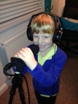 Eleanor recording Ruldoph the rednose reindeer at Christmas for Christmas CD!