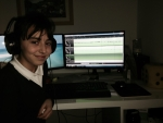 Imogen recording and mixing her Christmas song.jpg