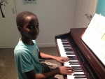 Timi practicing his sight-reading!