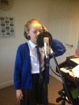 """Emily recording vocals for one her own songs she wrote """"Best Friends"""""""