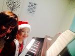 Lily learning her Christmas Number!